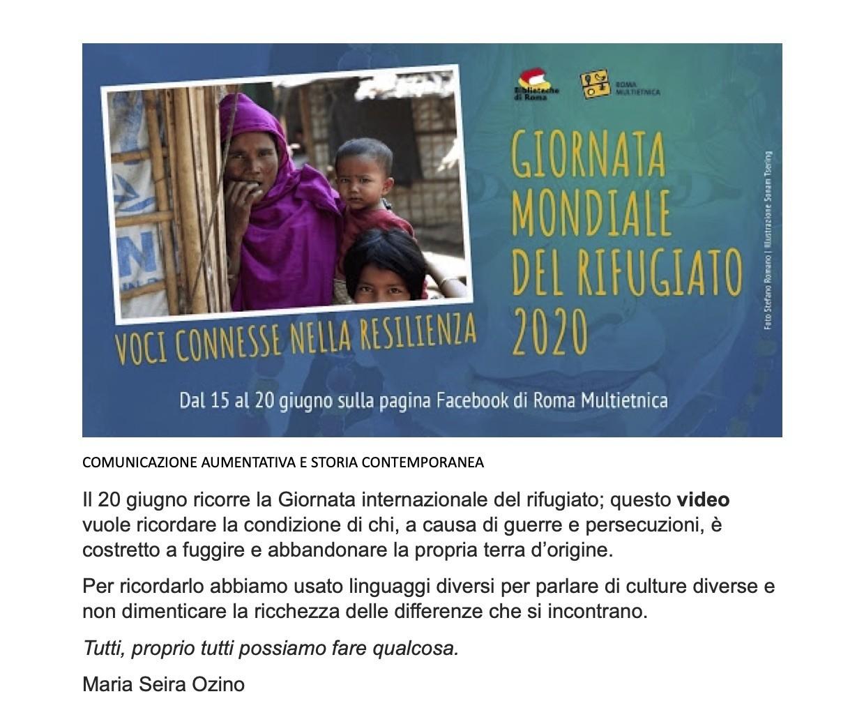 Maria Seira Ozino Rifugiati 2020